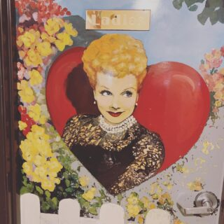 Loved the artwork on the bathrooms of this old school diner. The little things.   What I loved more? Lunch with my bestie @iamvonstroheim. #bitcoin