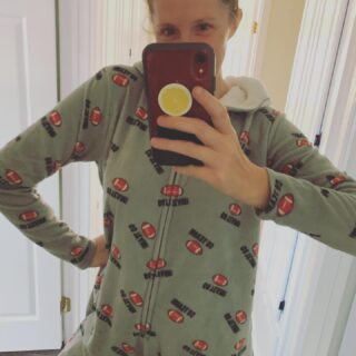 The best and (I think) only onesie I have ever owned (since childhood, at least). The #NFL is in full swing, so I will be wearing this, every Sunday until I get my new Washington Football Team Jersey.   #washingtonfootballteam